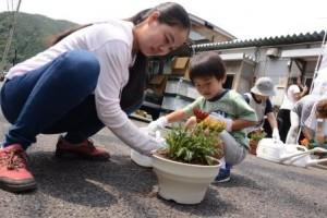 ■■釜石花植える (1)