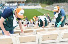 釜石鵜住居復興スタジアムの清掃ボランティアをしました